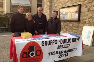Aido: adesioni 2012, in piazza a Mozzo. « Aido Mozzo