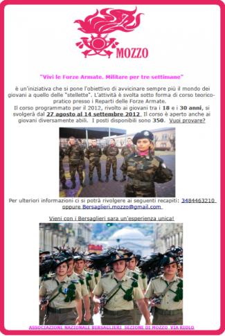 #VIVI LE FORZE ARMATE TRE SETTIMANE CON I BERSAGLIERI! ISCRIVITI. « blog del Bersagliere