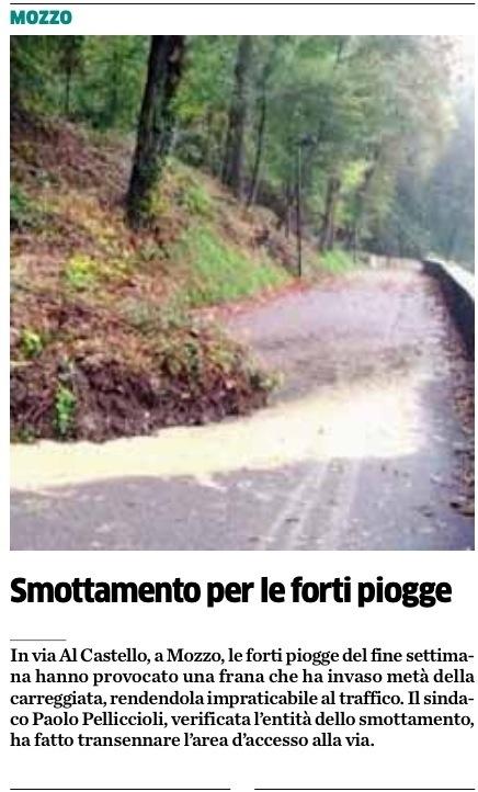 Letti A Castello Bergamo.Mozzo Smottamento Per Le Forti Pioggie Letto Su L Eco Di Bergamo 6