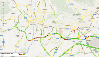 traffico in real time mozzo
