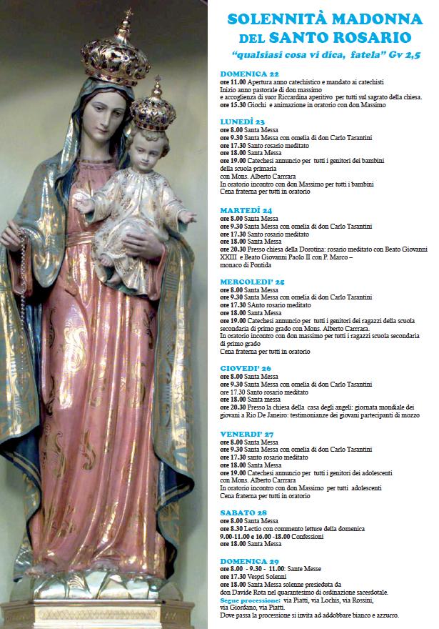 settimana rosario mozzo