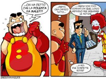 Bergaman interviene sulla polenta Un fumetto per fugare ogni dubbio - Cronaca - L'Eco di Bergamo - Notizie di Bergamo e provincia