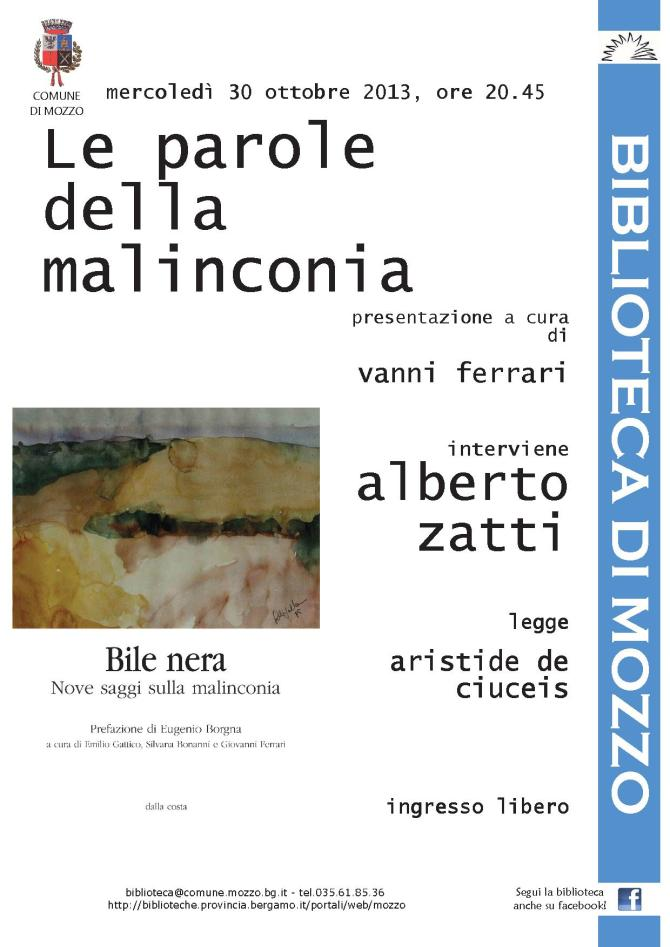 LE PAROLE DELLA MALINCONIA - ::: Rete Civica del Comune di Mozzo :::