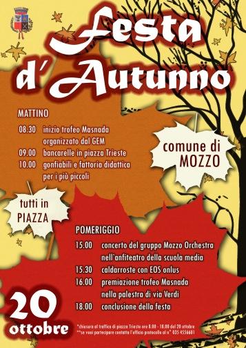 volantino festa d'autunno
