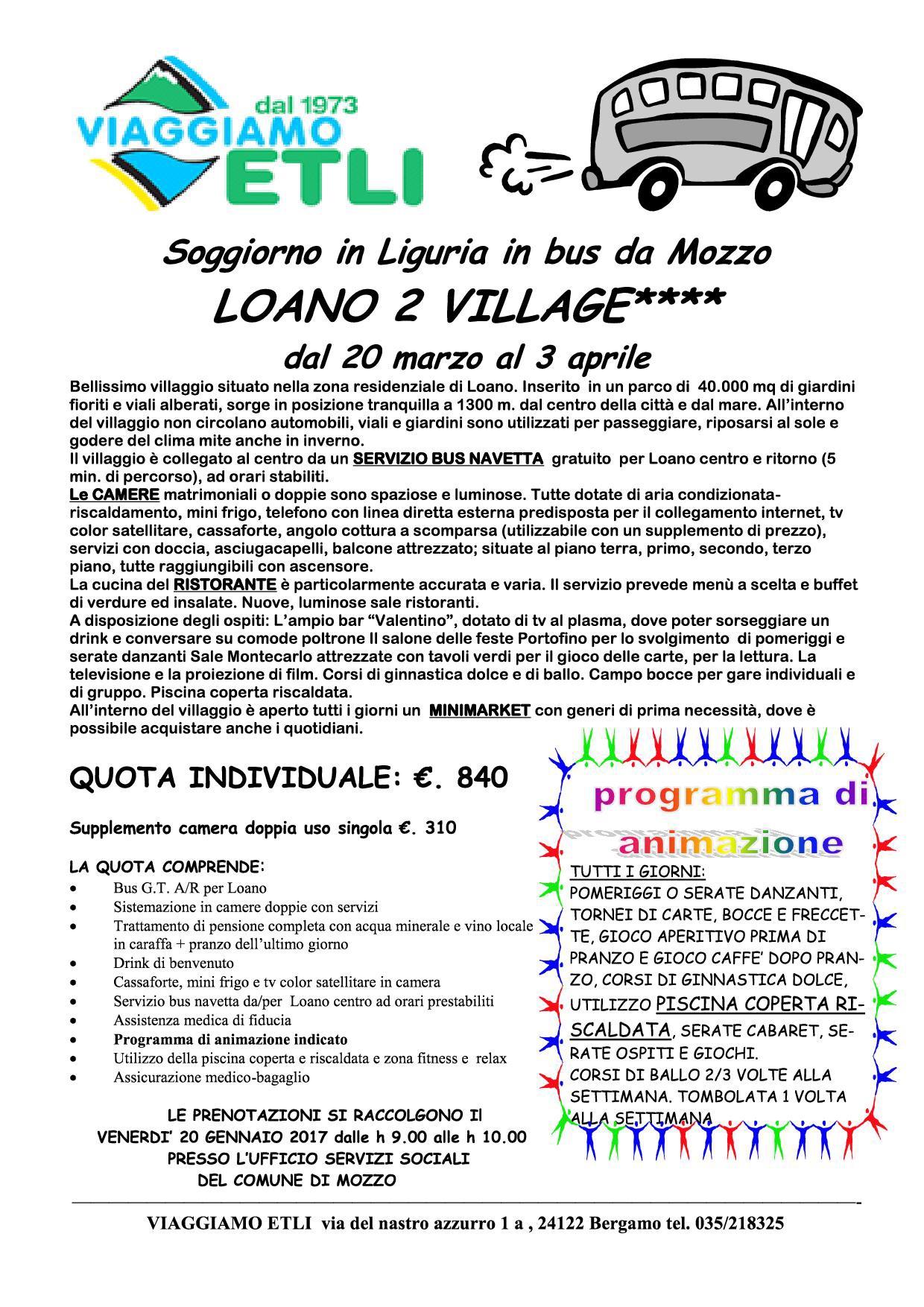 Mozzo/Comune: SOGGIORNO MARINO PER ANZIANI | Mozzo News